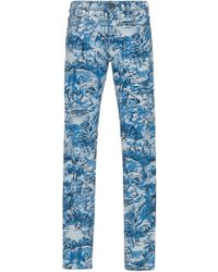 Off-White c/o Virgil Abloh - Tapestry-printed Toile Jeans - Lyst