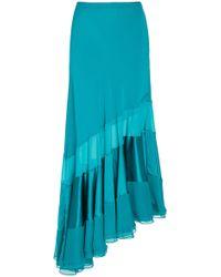 Prabal Gurung - Sofia Asymmetric Silk Midi Skirt - Lyst