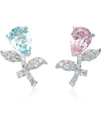 Anabela Chan - Exclusive Rose Blue Tulip Earrings - Lyst