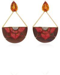 Silvia Furmanovich - 18k Gold, Resin, Citrine And Diamond Earrings - Lyst