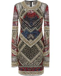 Naeem Khan - Beaded Mini Dress - Lyst