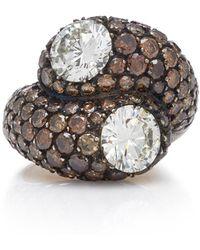 Gioia - Sandrine 18k Gold And Diamond Ring - Lyst