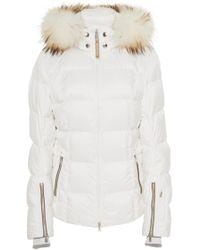 Bogner - Vera Fur-trimmed Shell Hooded Puffer Coat - Lyst