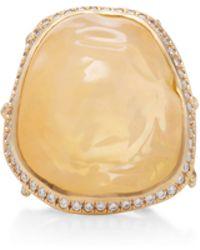 Annette Ferdinandsen - 18k Gold Large Opal Branch Ring - Lyst
