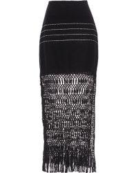 Jaline - Jane Macramé Midi Skirt - Lyst