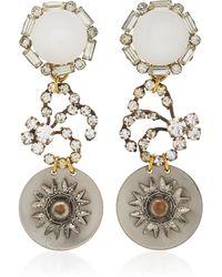 Lulu Frost | One-of-a-kind Vintage Crystal White Drop Earrings | Lyst