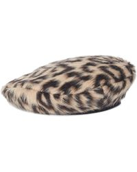 Versace - Leopard Print Cap - Lyst