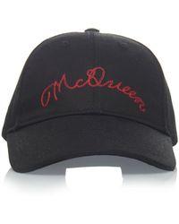 fca21d3041d Alexander McQueen - Logo-embroidered Cotton-twill Hat - Lyst