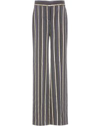 Peter Pilotto - Striped High-waisted Straight-leg Trousers - Lyst
