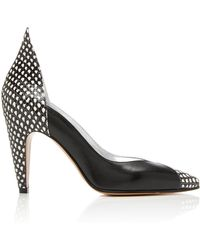 Givenchy - Panelled Snake-effect Leather Court Shoes - Lyst