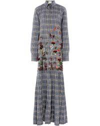 Rahul Mishra - 3d Tartan Shirt Dress - Lyst