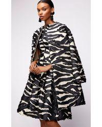 Oscar de la Renta - Zebra Print Tailored Short Coat - Lyst