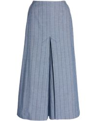 Pascal Millet - Chambray Stretch Culottes - Lyst