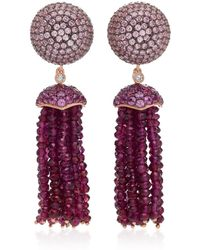 Anabela Chan - Rose Bauble 18k Rose Gold Vermeil Multi-stone Earrings - Lyst