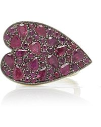 Sylva & Cie - 18k Gold, Sterling Silver And Ruby Ring - Lyst
