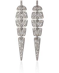 Sidney Garber - Geometric Diamond Earrings - Lyst