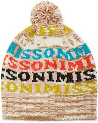 Missoni - Pom Pom-embellished Intarsia Wool-blend Beanie - Lyst