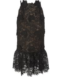 Costarellos - Embroidered Cut Lace Skirt - Lyst