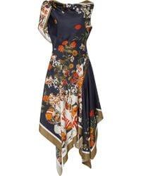 Monse - Football Floral Off The Shoulder Dress - Lyst