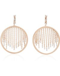 Suzanne Kalan - 18k Rose Gold And Diamond Hoop Earrings - Lyst