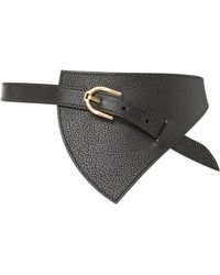 Maison Vaincourt - M'o Exclusive Reversible Triangle Leather Waist Belt - Lyst