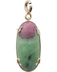 Sharon Khazzam - Oval Cab Ruby In Zoisite Drop - Lyst