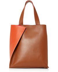 Paule Ka - Colorblock Leather Tote Bag - Lyst