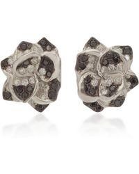 Colette - 18k White Gold And Diamond Earrings - Lyst