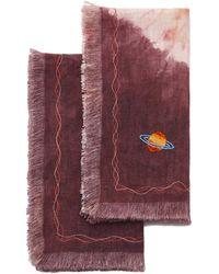 The Elder Statesman - Set-of-two Tes X Rpm Embroidered Napkins - Lyst