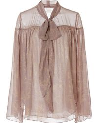 Tryb212 | Lindsey Bell Sleeve Pleated Top | Lyst