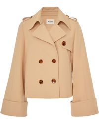 Khaite - Bianca Cropped Trench - Lyst