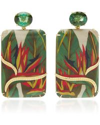 Silvia Furmanovich - M'o Exclusive: Marquetry Heliconea Earrings - Lyst
