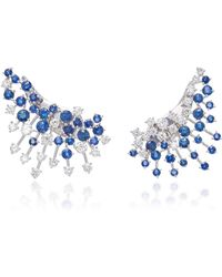 Hueb - Luminus 18k White Gold Diamond And Sapphire Earrings - Lyst