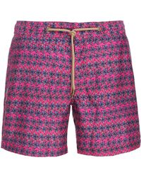 de75e22a15 Thorsun Clay-print Swim Shorts in Blue for Men - Lyst