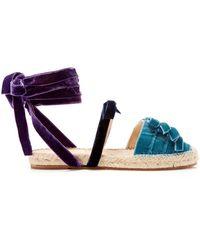 Attico - Alma Velvet Espadrille Sandals - Lyst