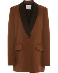 Tibi - Oversized Color-blocked Twill Tuxedo Blazer - Lyst