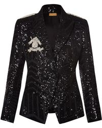 Nadya Shah - Lia Structured Sequined Blazer - Lyst
