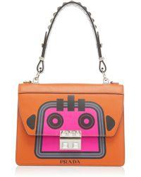 cc16d335134ba7 Prada - City Calf And Saffiano Bag With Robot - Lyst