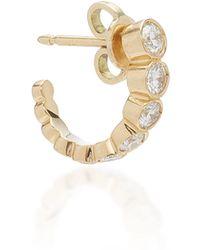 Sophie Bille Brahe - Boucle Ensemble 18k Gold Diamond Hoop Earring - Lyst