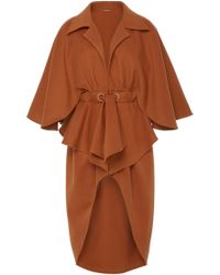 Johanna Ortiz - Eternal Changes Belted Cape Overcoat - Lyst