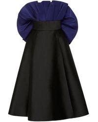 Elizabeth Kennedy - Tea Length Cocktail Dress With Ruffle - Lyst