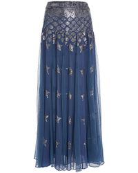 Temperley London - Starlet Sequined Chiffon Skirt - Lyst