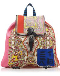 Etro - Woven Backpack - Lyst