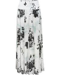 Adriana Iglesias - Long Island Silk Maxi Skirt - Lyst