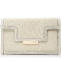 Aerin - Leather Clutch With Trim - Lyst