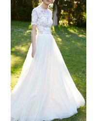 Costarellos Bridal - Cordonne Lace Ballgown - Lyst