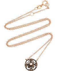 Montse Esteve - 18k Gold, Oxidized Silver And Diamond Necklace - Lyst