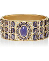 Jamie Wolf - Mosaic Deco Bracelet With tanzanite, Iolite And White diamonds - Lyst