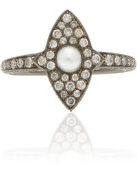 Sidney Garber - Mallory Marquette Pearl And Diamond Ring - Lyst