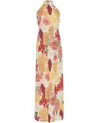 Agua de Coco - Floral-print Halter Maxi Dress - Lyst